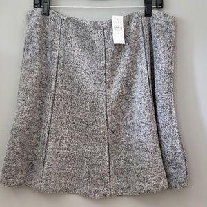 LOFT Grey Chunky Fleece Skirt Size Large